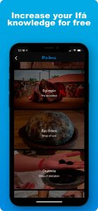 App about the traditional practice of Ifá