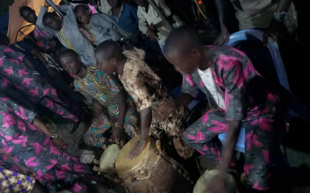 Tambores en el festival Owonrin Meji