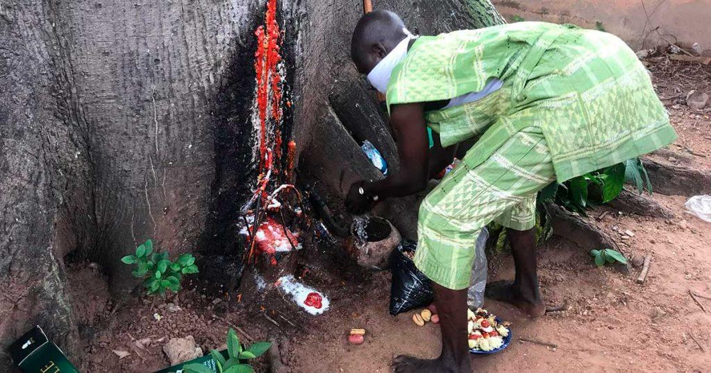 Propiciación a Ogun en el festival mundial de Shango 2020